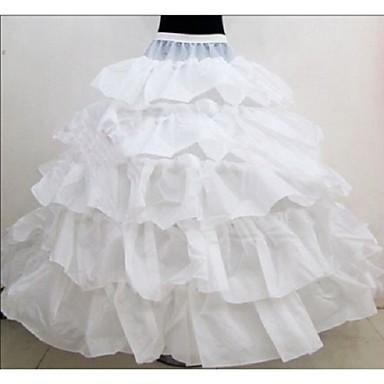 Bruiloft Speciale Gelegenheden Onderjurken Polyester Vloerlengte Baljurk Slip Met