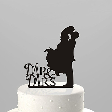 Cake Topper Garden Theme Classic Couple Acrylic Wedding Anniversary Bridal Shower With OPP