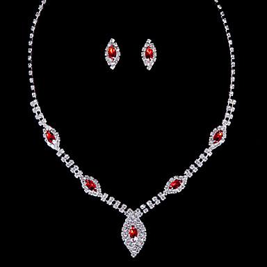 Biżuteria Ustaw Damskie Rocznica / Ślub / Zaręczynowy / Urodziny / Prezent / Piękny Jewelry Sets Stop Diament / RhinestoneNáušnice /