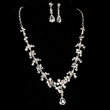 Biżuteria Ustaw Damskie Rocznica / Ślub / Zaręczynowy / Prezent / Strona / Piękny Jewelry Sets Stop / Rhinestone RhinestoneNaszyjniki /