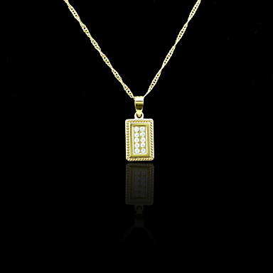 18K Real Gold Plated Pendant 1*2.3CM