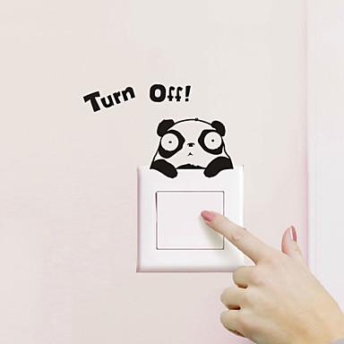 Tiere Wand-Sticker Flugzeug-Wand Sticker Lichtschalter Sticker, PVC Haus Dekoration Wandtattoo Wand