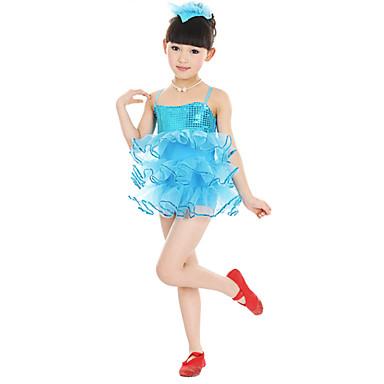 Bale Elbiseler Çocuklar için Performans Polyester Tül Çiçekli Kolsuz Doğal Elbise