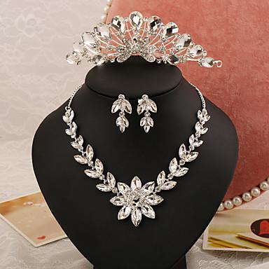 Mulheres Conjunto de jóias Brincos Colares Tiaras - Regular Outros Prateado Para Casamento Festa Ocasião Especial Aniversário Noivado