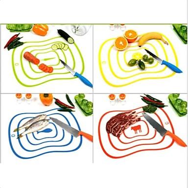 Esnek ultra-ince mutfak araç meyve sebze kesme doğrama tahtası mat rastgele renk