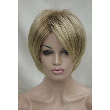 Synthetic Wig Straight / Classic Synthetic Hair Wig Women's Capless