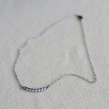 Women's Imitation Diamond Choker Necklace - Necklace For Daily
