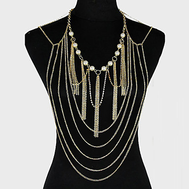 Body Chain Unique Design, Party, Casual Women's Golden Body Jewelry For Party