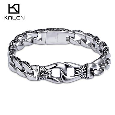 Kalen New Design Jewelry Titanium Stainless Steel Men's Bracelet