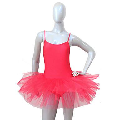 Балет Балетные пачки и юбки Жен. Детские Выступление Нейлон Тюль Лайкра 1 шт. Платье