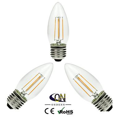 3 τμχ ONDENN E26/E27 4 COB 400 LM Θερμό Λευκό A60(A19) edison Πεπαλαιωμένο LED Λάμπες Πυράκτωσης AC 220-240 / AC 110-130 V