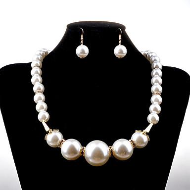 Damen Perle Schmuck-Set - Perle, Künstliche Perle, Diamantimitate Modisch Einschließen Halskette / Ohrringe Weiß Für Hochzeit Party Geburtstag / Halsketten