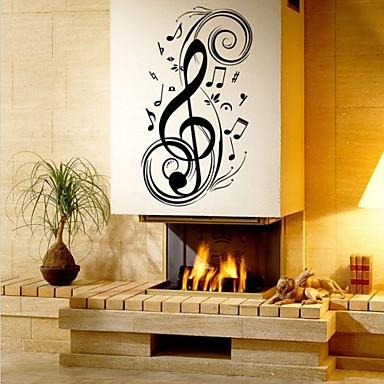 Moda Şekiller Müzik Duvar Etiketler Uçak Duvar Çıkartmaları Dekoratif Duvar Çıkartmaları, Vinil Ev dekorasyonu Duvar Çıkartması Duvar