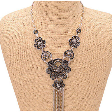 Women's European Statement Necklace Alloy Statement Necklace Wedding Party Daily Casual Costume Jewelry