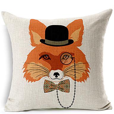 modern stílusban fox pohár mintás pamut / len dekoratív párna fedél