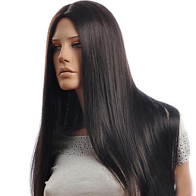 Perruque Synthétique Droit Partie médiane Design Tendance Noir Femme Sans bonnet Perruque Naturelle Long Cheveux Synthétiques Soirée /