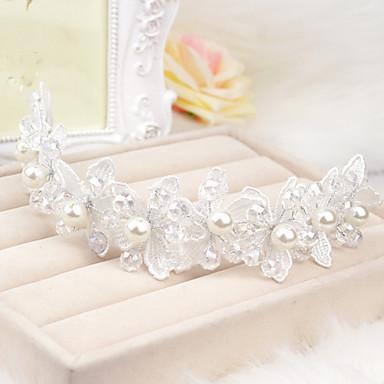 Crystal Imitation Pearl Lace Flowers Headpiece Classical Feminine Style