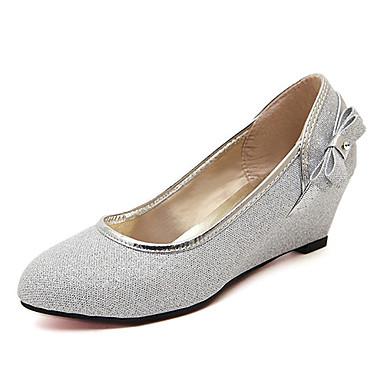 펌프스/힐 - 웨딩 / 드레스 / 파티/이브닝 - 여성의 신발 - 둥근 앞코 - 글리터 - 웻지 굽 - 실버