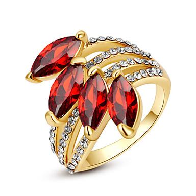 Жен. Кристалл / Синтетический рубин / Синтетический алмаз Искусственный бриллиант Заявление - Камни по месяцу рождения Кольцо Назначение