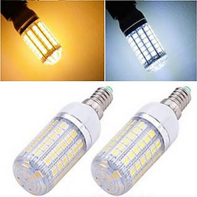 1200 lm E14 LED-kornpærer T 69LED leds SMD 5050 Varm hvit Kjølig hvit AC 220-240V