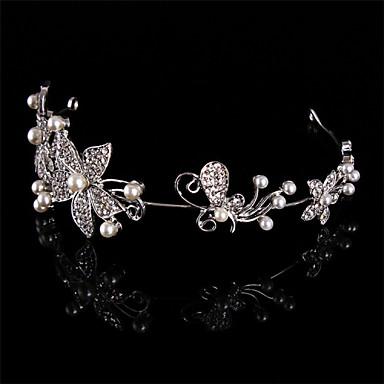 preiswerte Haarschmuck-Damen Kopfschmuck Hochzeit Stirnbänder Perle/Sterlingsilber/Strass Hochzeit