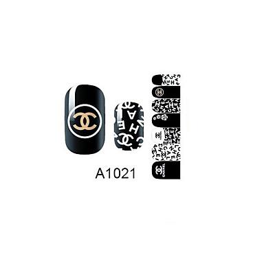 14PCS Nail Art Stickers A Series NO.1021