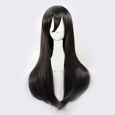 Angelaicos Women Kagerou Project Tateyama Ayano Long Straight Black Natural Looking Halloween Party Cosplay Costume Wigs