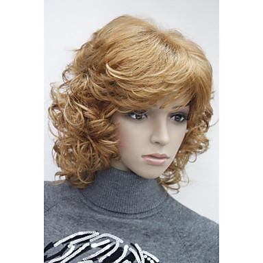 povoljno Perike i ekstenzije-Sintetičke perike Wavy Stil Sa šiškama Capless Perika 33H350 V6 RM73 Sintentička kosa Žene Perika Dug Hivision