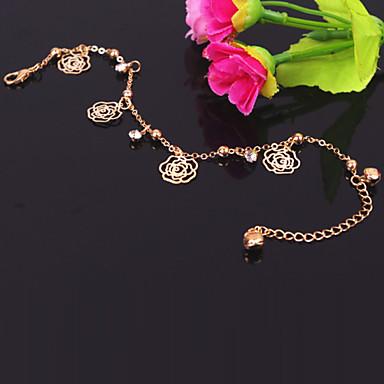roses métalliques de mode bracelets de cheville