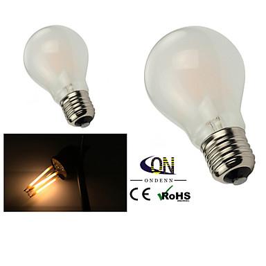 e26 / e27 led világító izzók a60 (a19) 6 cob 600lm meleg fehér 2800-3200k dimmable ac 220-240 ac 110-130v
