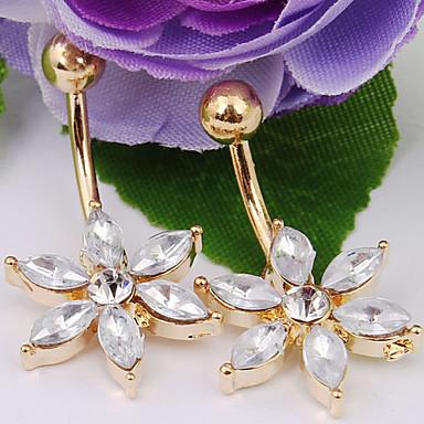 Kristály Navel Ring / Belly Piercing - Kristály, Hamis gyémánt Virág Divat Női Testékszer Kompatibilitás Napi / Hétköznapi
