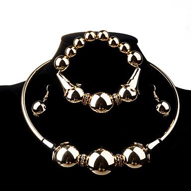 Női Hamis gyémánt Ékszer szett Naušnice / Nyakláncok - Divat Aranyozott Ékszer készlet / Nyaklánc / fülbevaló Kompatibilitás Esküvő /