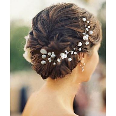 Düğün parti zarif stili için 6pcs / lot inci saç tokaları headpieces