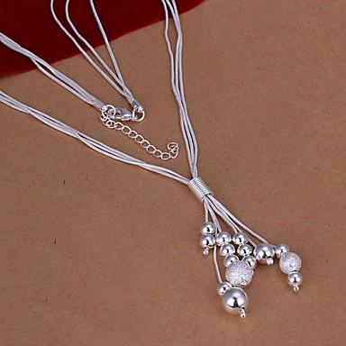 Dames Vorm Modieus Hangertjes ketting Sterling zilver Hangertjes ketting Bruiloft Feest Dagelijks Causaal
