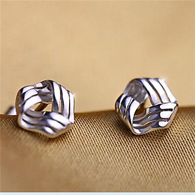 Női Beszúrós fülbevalók Szerelem aranyos stílus minimalista stílusú Ezüst Geometric Shape Ékszerek Parti Napi Hétköznapi Jelmez ékszerek
