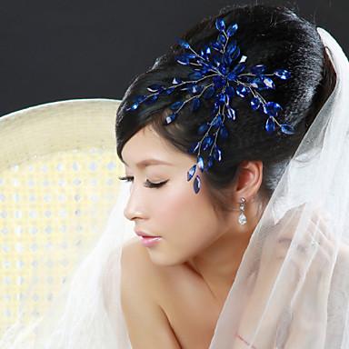 Κρύσταλλο Ύφασμα Κράμα Τιάρες Λουλούδια 1 Γάμου Ειδική Περίσταση Πάρτι / Βράδυ Headpiece