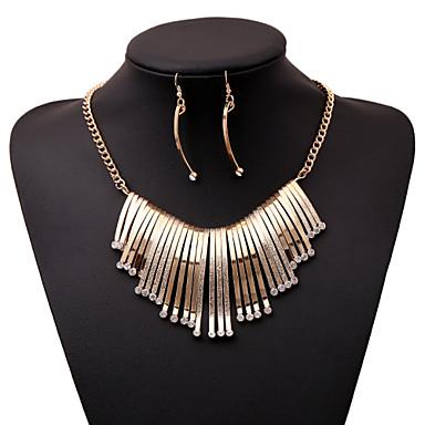 여성용 보석 세트 / 문 목걸이 - 모조 다이아몬드 사치, 유럽의 골드, 화이트 목걸이 제품 파티