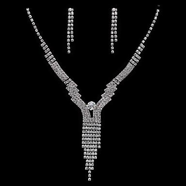 Conjunto de jóias Mulheres Aniversário / Casamento / Noivado Conjuntos de Joalharia Zircônia Cubica / Liga Zircônia CubicaBrincos /