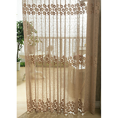 Rod Pocket Grommet Top Tab Top Double Pleated Pencil Pleated One Panel Curtain Country Modern Neoclassical European Designer Bedroom