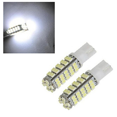 2pcs 2.5W 150-200lm T10 Dekoratív 68led LED gyöngyök SMD 2835 Dekoratív Hideg fehér 12V / 1 db. / RoHs / CCC