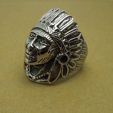 Men's Ancient Indian Chief Titanium Ring
