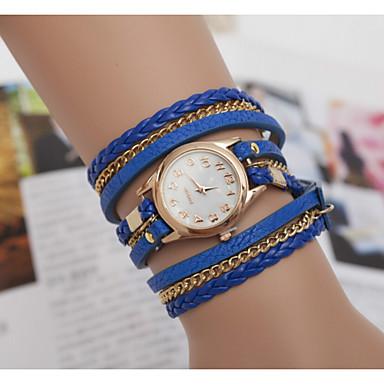 아가씨들 패션 시계 손목 시계 팔찌 시계 석영 가죽 밴드 블랙 블루 레드 브라운 상표