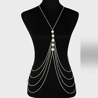 Körper-Kette / Bauchkette - Damen Gold Einzigartiges Design / Party / Freizeit Körperschmuck Für Party