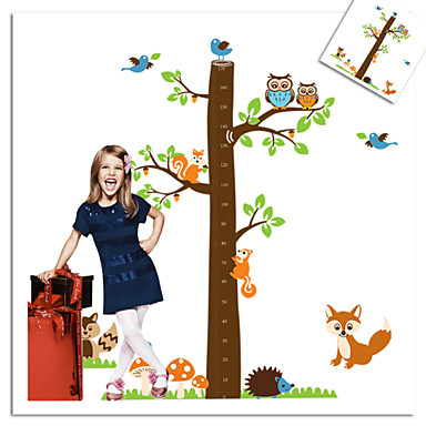 Owl Bird Fox Squirrel Zoo Wall Sticker For Kids Room Zooyoo221 Decorative Removable Pvc Wall Decal