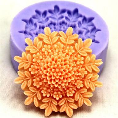 moules de cuisson fleur de cuisson en silicone pour gâteau fondant bonbons de chocolat (couleurs aléatoires)