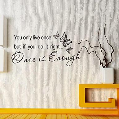 αυτοκόλλητα τοίχου τοίχου στυλ χαλκομανίες είναι κάποτε αρκετά αγγλικές λέξεις&αναφέρει αυτοκόλλητα PVC τοίχο