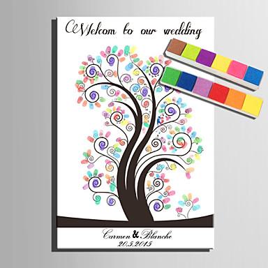 Signatur Rahmen & Platten Papier Garten HochzeitWithMuster Hochzeitsaccessoires