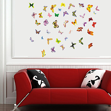 Animals Romance Wall Stickers Plane Wall Stickers Decorative Wall Stickers Material Re-Positionable Home Decoration Wall Decal
