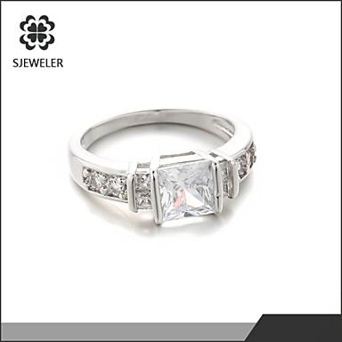 Duże pierścionki luksusowa biżuteria Modny Cyrkon Cyrkonia Powłoka platynowa Pozłacane Biżuteria Na Ślub Impreza 1szt