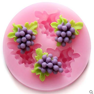 bakeware szilikon szőlő sütőformák a fondant cukorka csokoládé torta (véletlenszerű szín)